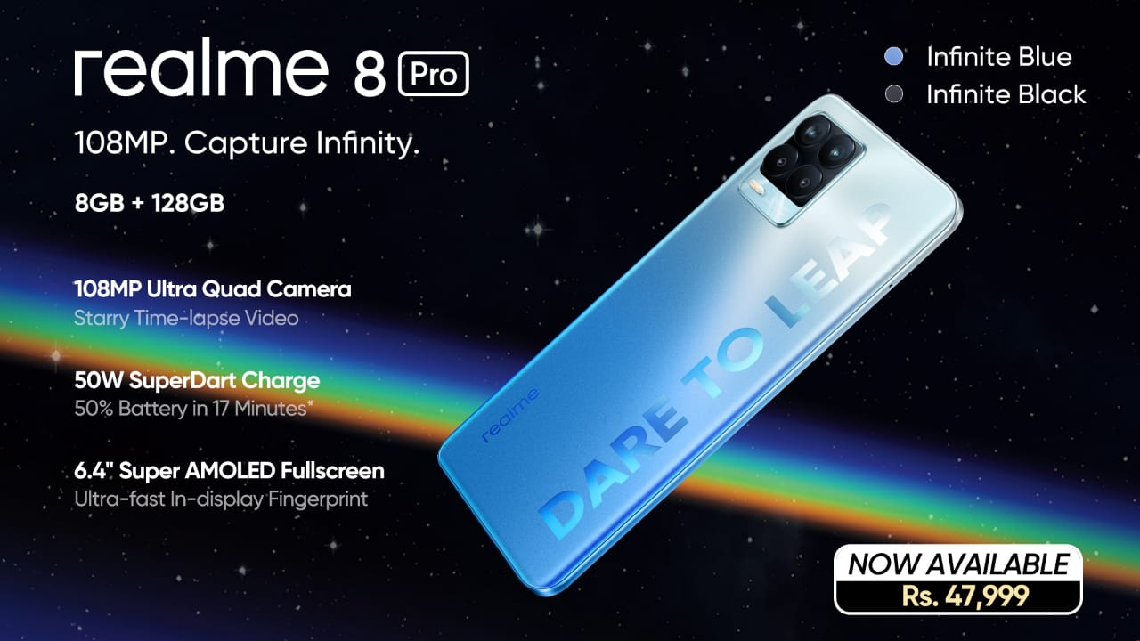 Artwork 1 - Infinite Clarity and Outclass Imagery Now Available in Pakistan with the realme 8 Pro