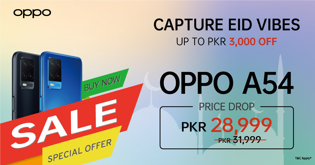 Kv 1 - Bigger Celebrations, Bigger Offers! OPPO F19 and A54 dropped down to new amazing prices for you to enjoy your Eid!