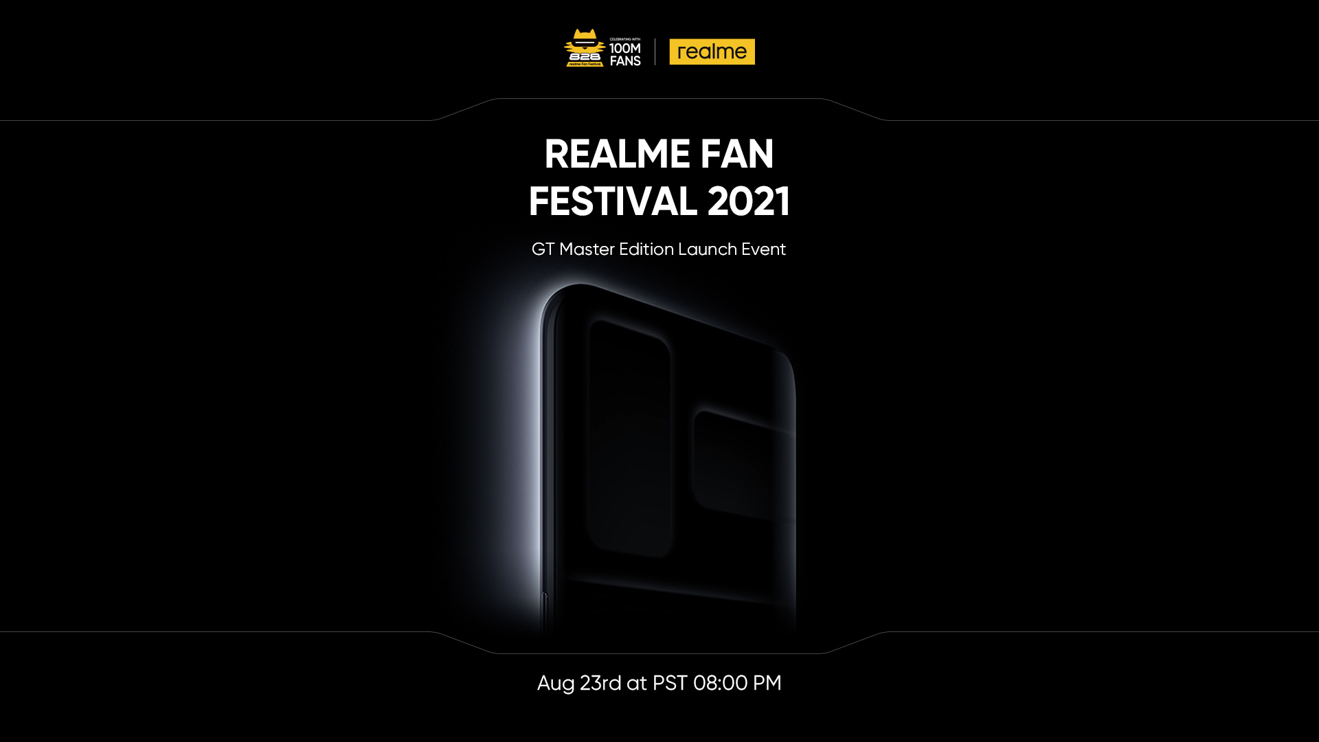 Artwork 1 4 - realme to Launch 100 Million Sales Milestone Product GT Master Edition Series and Other Product Lines on August 23