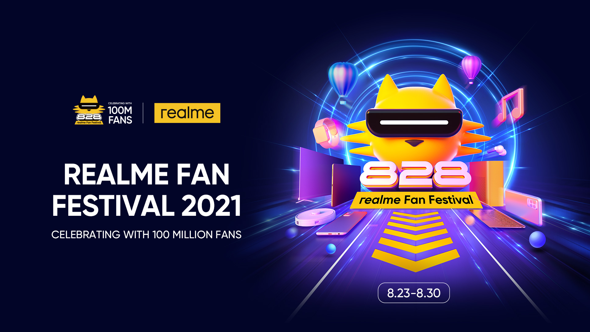 Artwork 2 2 - realme to Launch 100 Million Sales Milestone Product GT Master Edition Series and Other Product Lines on August 23
