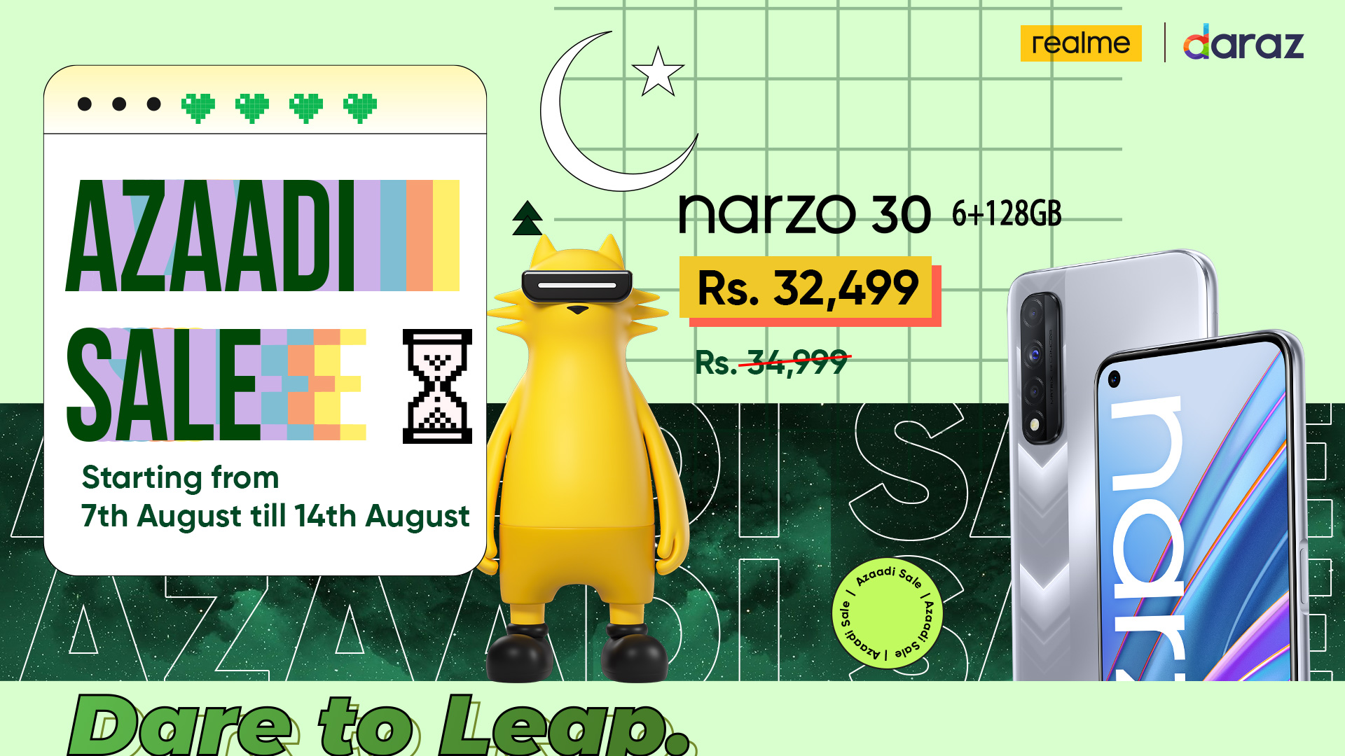 Artwork - Celebrate real Azaadi with realme Azaadi Sale 2021 with up to 30% in Discounts